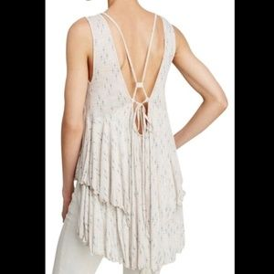 Free People hummingbird moonshine boho tunic L